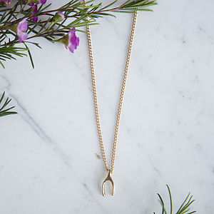 Wishbone Necklace - necklaces & pendants