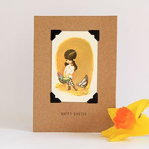 Vintage Inspired Easter Card