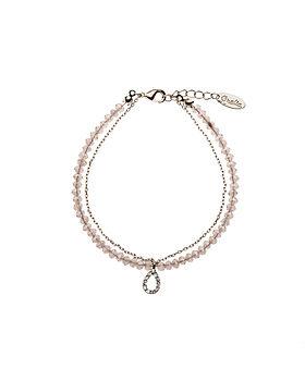 Teardrop Bracelet Pink