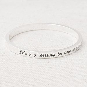 'Life Is A Blessing…' Bracelet