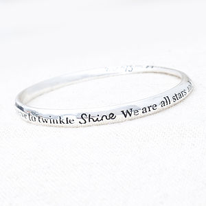'Shine, We Are All Stars…' Bracelet - bracelets & bangles
