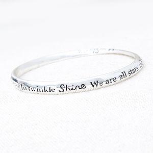 'Shine, We Are All Stars…' Bracelet - women's jewellery