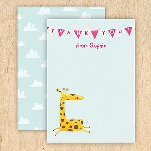 Personalised Animal Thank You Cards