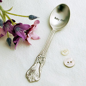 Baby Girl Vintage Style Spoon - new baby gifts