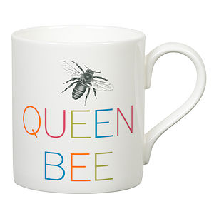 'Queen Bee' Slogan Mug