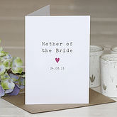 'Mother Of The Bride' Personalised Card - styling your day