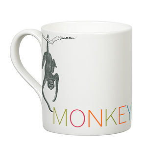 'Monkey Nuts' Slogan Mug - kitchen