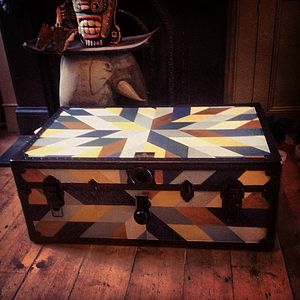 Storage Trunk Quilt Pattern - boxes, trunks & crates