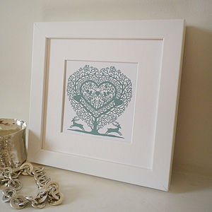 Miniature Tree Heart Print
