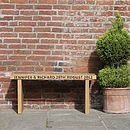 Oak Personalised Benches