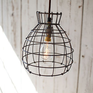Industrial Wire Pendant Light - ceiling lights