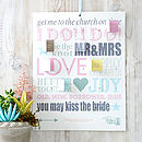 Personalised Wedding Countdown Calendar