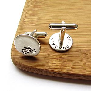 Bicycle Personalised Father's Day Cufflinks - cufflinks