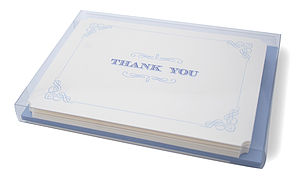 Wedgewood Letterpress Thank You Boxset
