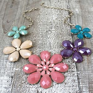 Spring Flower Necklace - statement jewellery