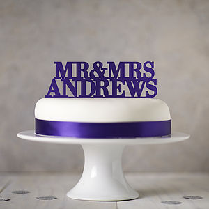 Personalised Wedding Cake Topper - table decorations
