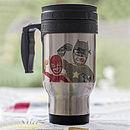 Personalised Super Dad Travel Mug