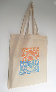 Sun Hare And Moon Hare Tote Bag - shopper bags