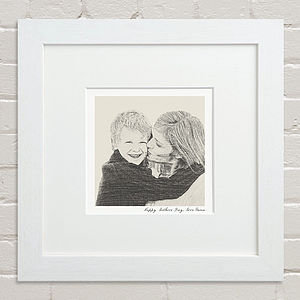 Bespoke Mother And Child Portrait - gifts for mothers