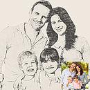Bespoke Family Portrait Print