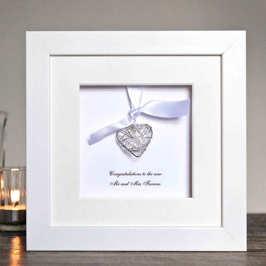 personalised wedding wire heart box frame by twenty-seven ...