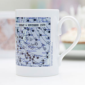 Personalised Weather Map Wrap Mug - mugs