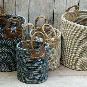 Woven Coil Basket - log baskets