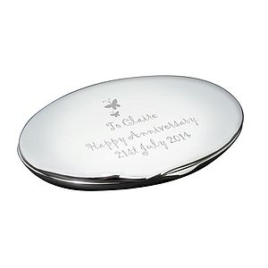 Oval Personalised Compact Mirror