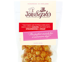 Strawberries And Cream Flavour Popcorn - food gifts