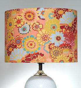 Handmade Asian Circles Lampshade - living room