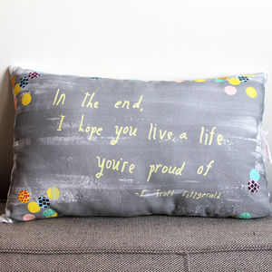 F Scott Fitzgerald Quote Pillow