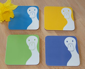 Peek A Boo Duck Coasters