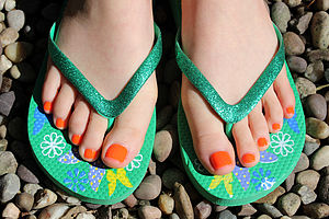 Girl's Fun Flip Flops - summer footwear