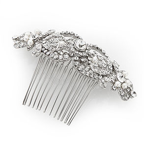 Antique Silver Hair Comb - wedding jewellery