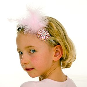 Pearl Embroidered Motif Alice Band - hair accessories