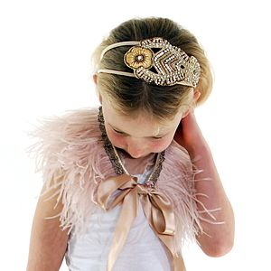 Florence Handmade Embellished Alice Band - hair clips & hair ties