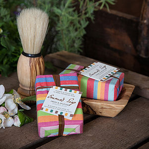 Shaving Soap, Brush And Dish Gift Box