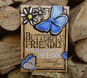 Butterfly Friendly 'Thank You' Flower Seeds - bridesmaid gifts
