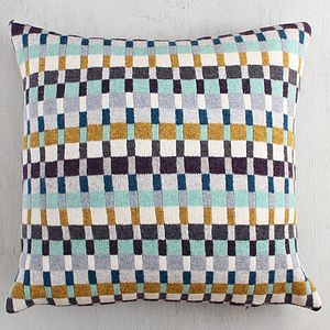 Tatler Knitted Lambswool Cushion - living room