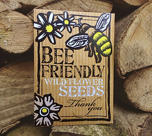 Bee Friendly 'Thank You' Wild Flower Seeds - wedding favours