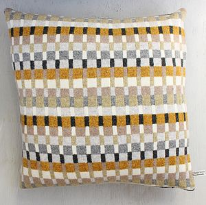 Seville Knitted Lambswool Cushion - living room