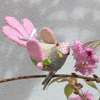 Fabric Patchwork Floral Bird