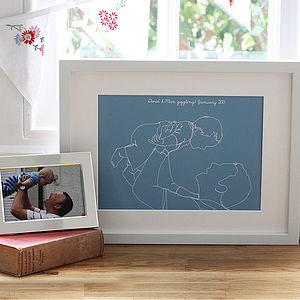 Parent And Child Portrait From Your Own Photo - personalised