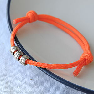 Men's Personalised Coloured Paracord Bracelet - bracelets