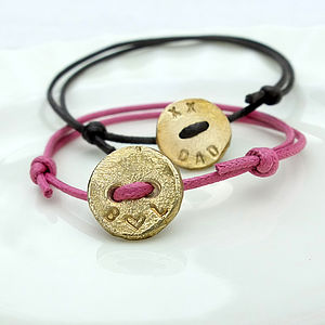 Personalised Button Bracelet - women's jewellery