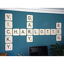 Giant Scrabble Wall Letter