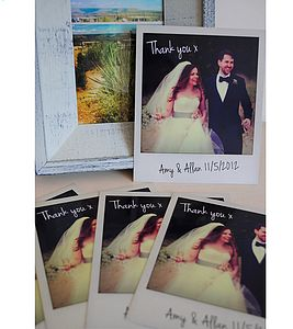 Personalised Polaroid Wedding Thank You Cards - wanderlust