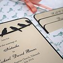 Birds Pocket Fold Wedding Invitation