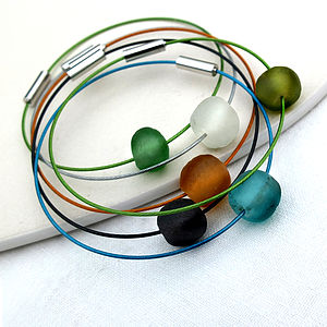 Anytime Recycled Bangle - stocking fillers under £15