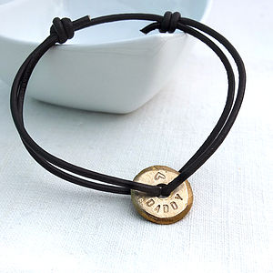 Personalised Leather Eternity Bracelet - men's jewellery